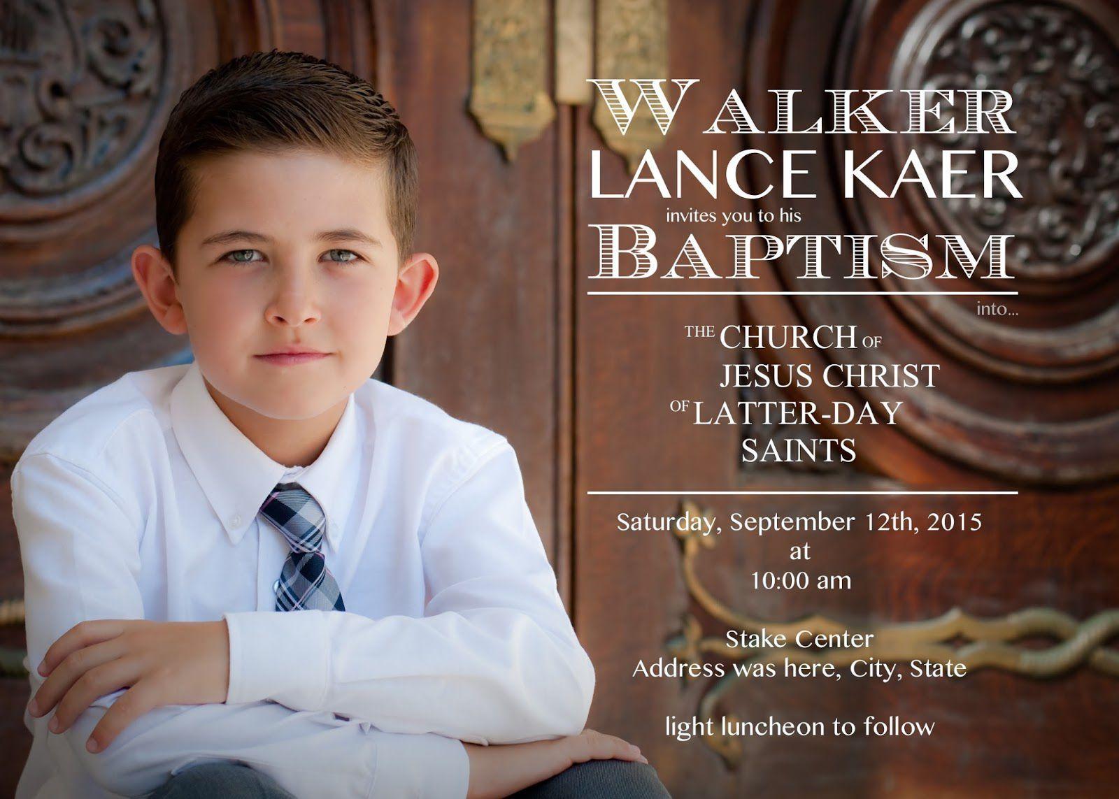 Invitation Christening Boys