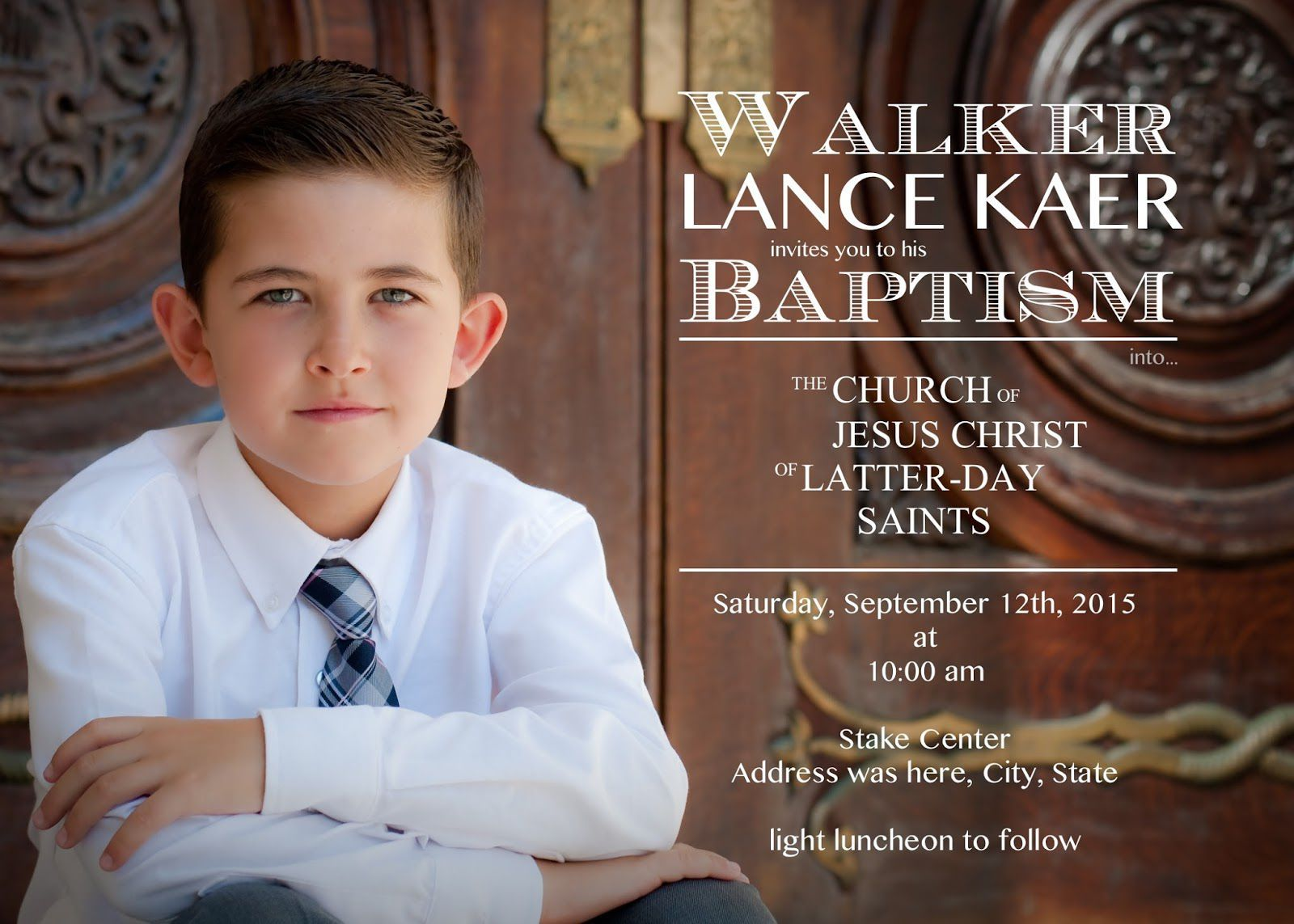 Lds Baptism Invitations Free Baptism Invitations Pinterest