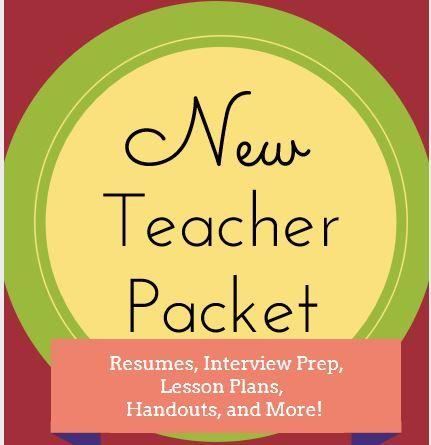 New Teacher Interview Prep Packet Teacher School and Teaching ideas