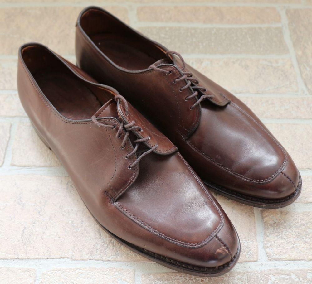 Allen edmonds delray dark brown leather split toe oxford