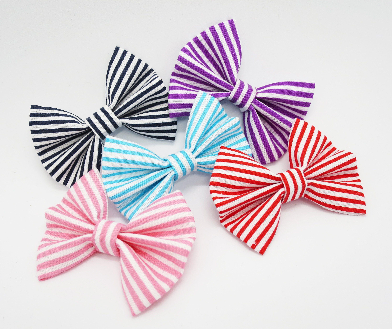 Sparkles And Stripes Hair Bow Set