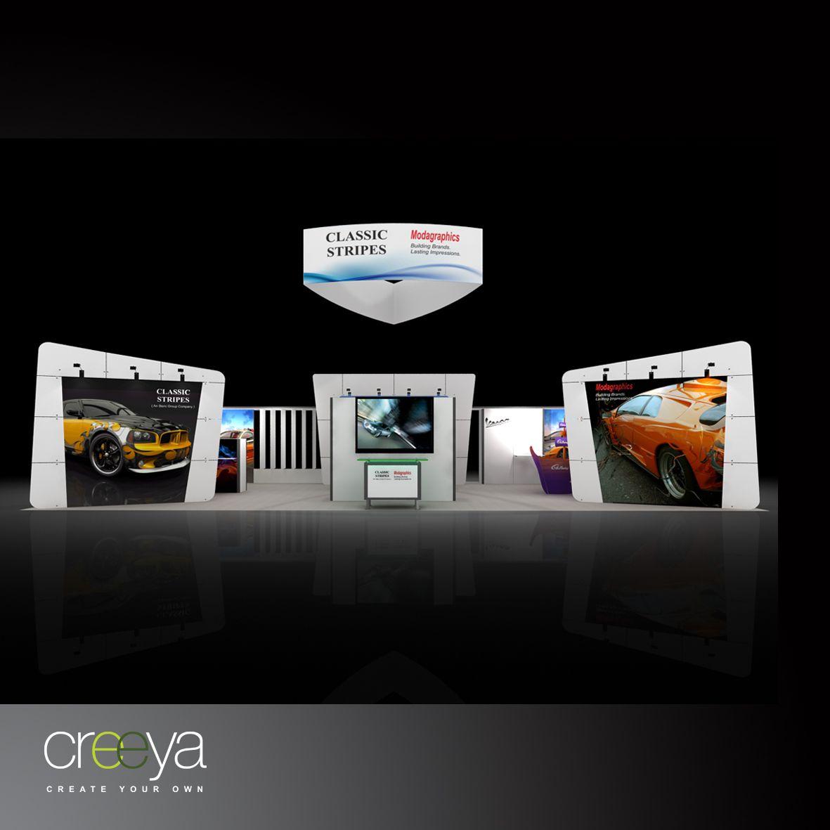 Creeya modular display exhibit is termed as custom
