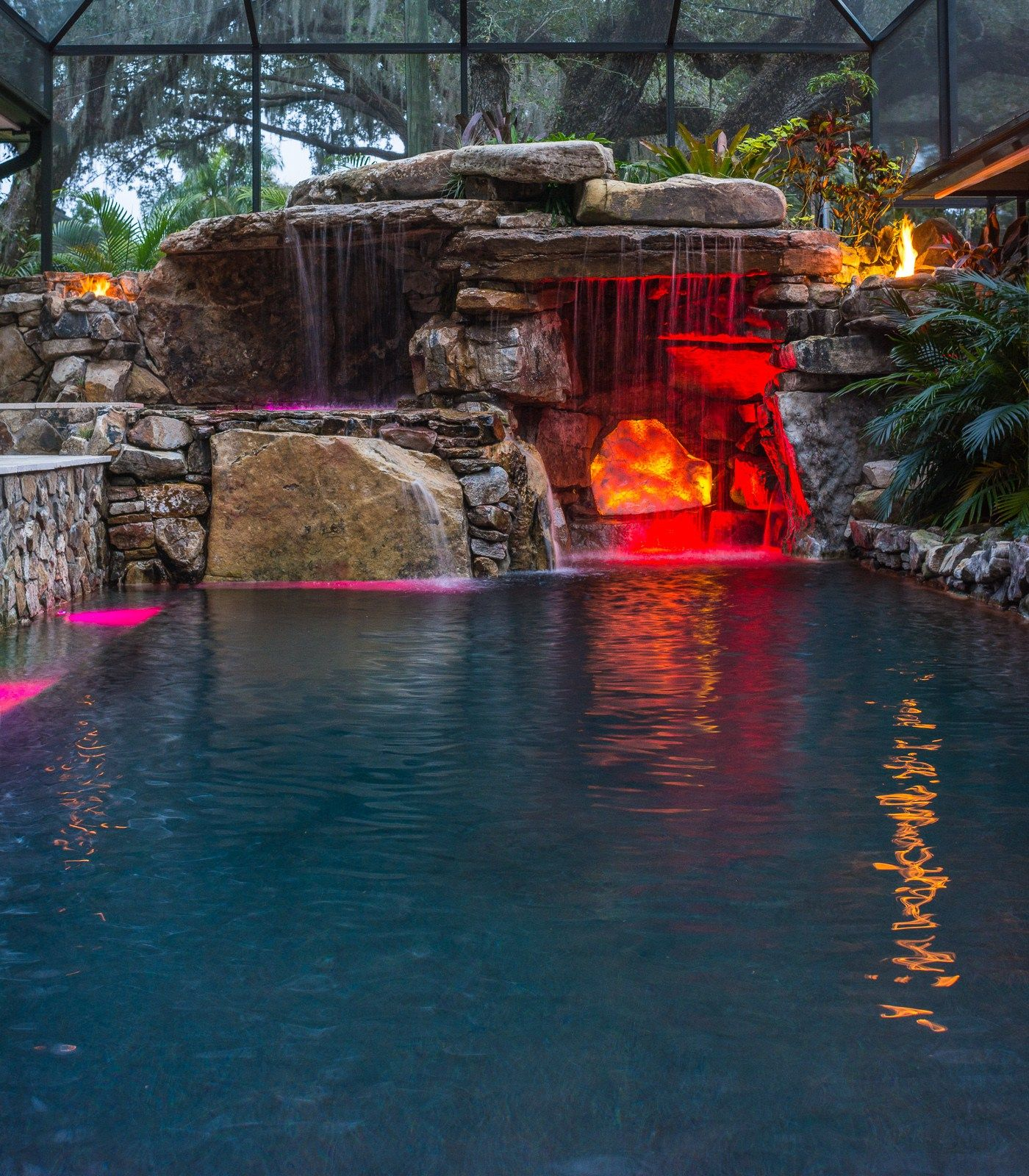 Welcome To The Jungle With Images Backyard Pool Landscaping Cool Swimming Pools Insane Pools