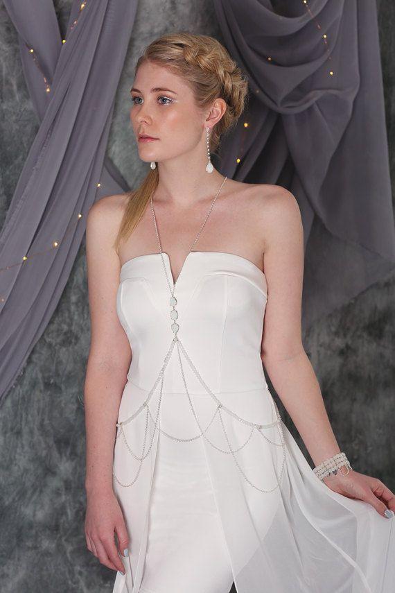 Saturn Body Chain, Bridal Necklace, Bohemian Jewelry Body Piece ...