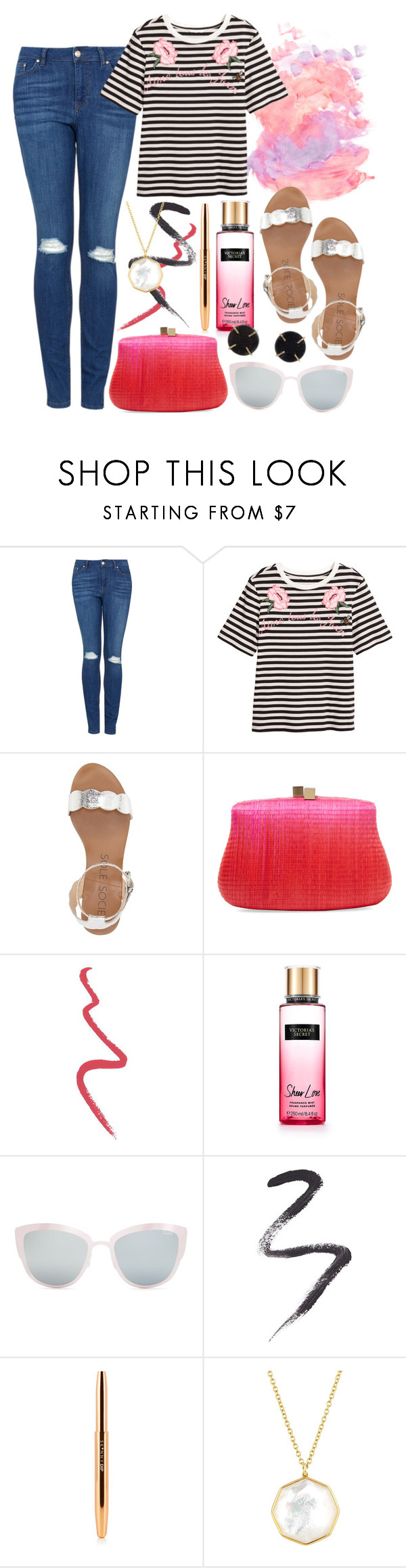 """""""Reports"""" by shellcp ❤ liked on Polyvore featuring Topshop, Sole Society, Serpui, Victoria's Secret, Ippolita and Melissa Joy Manning"""