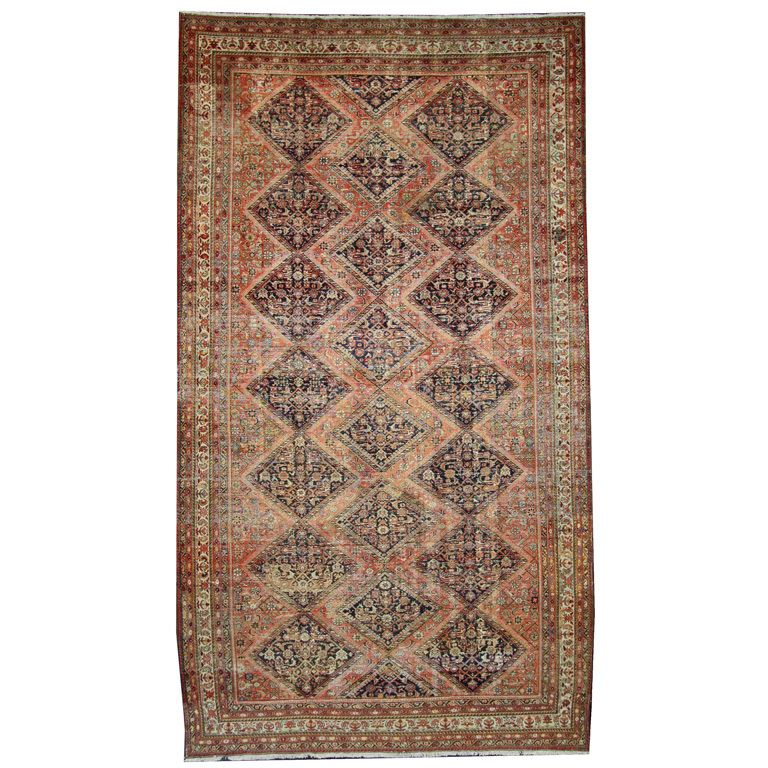 Distressed Antique Persian Malayer Rug With Rustic Artisan Elizabethan Style Industrial Style Rugs On Carpet Persian Rug