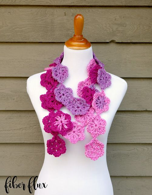 Free Crochet Pattern...Maui Blossom Scarf!