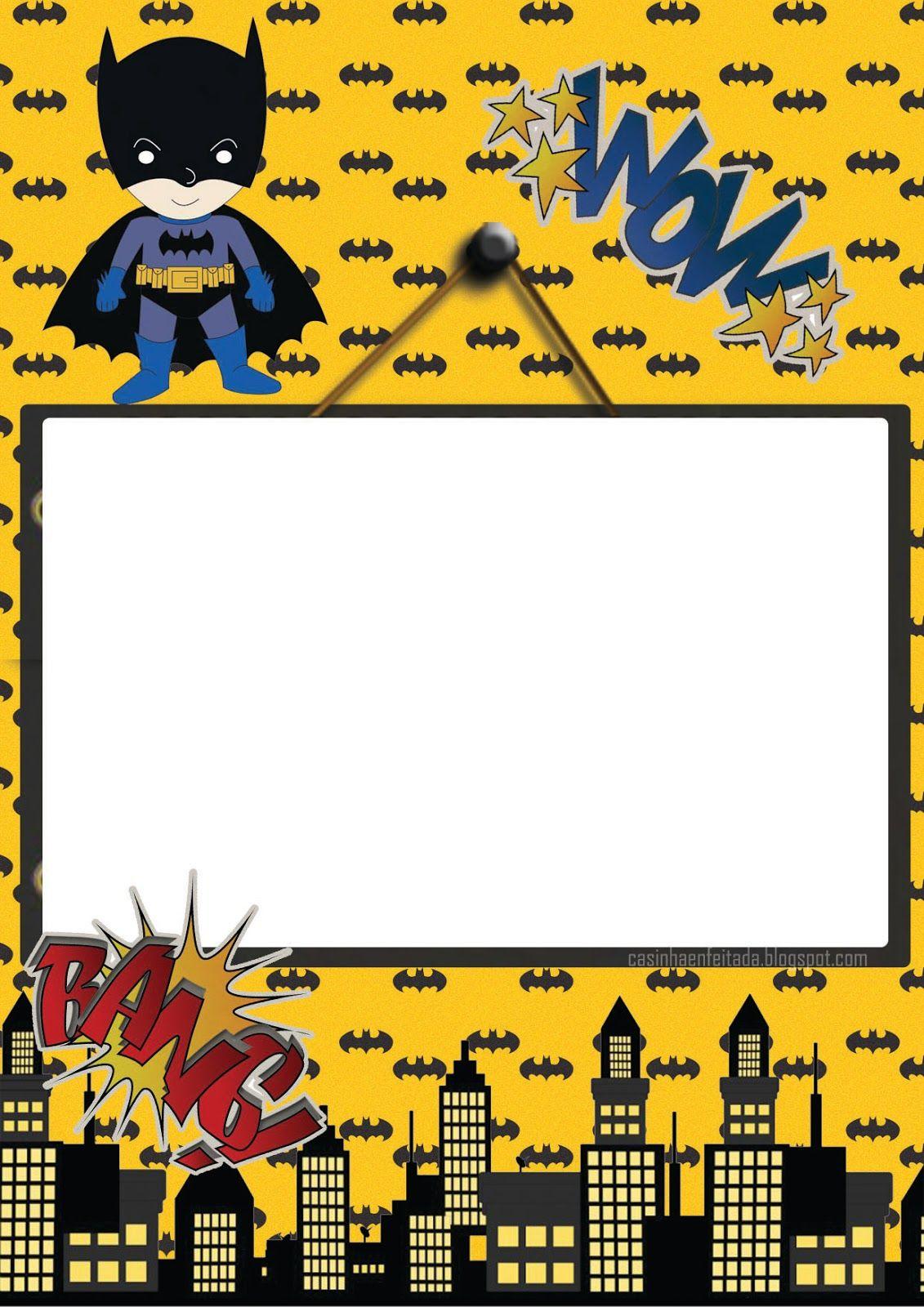 Kit Festa Batman Para Imprimir Grátis En 2019 Imprimibles