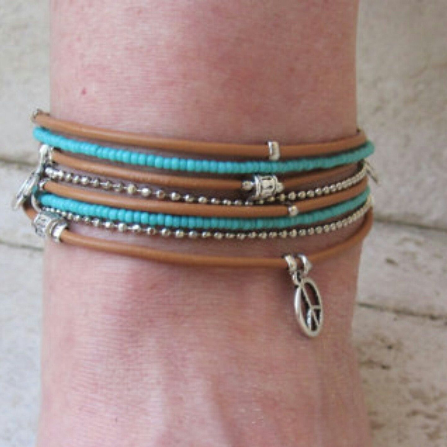 snow pin anklet and turquoise silver beach sterling bracelets bracelet ankle jewelry