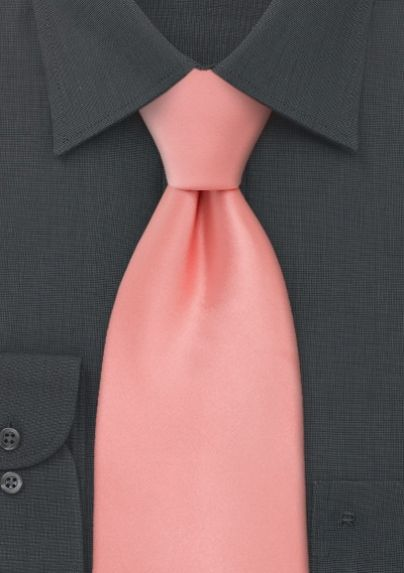 ebe7cfde4027 Solid Color Necktie in Tropical Peach | Bows-N-Ties.com | Wedding ...