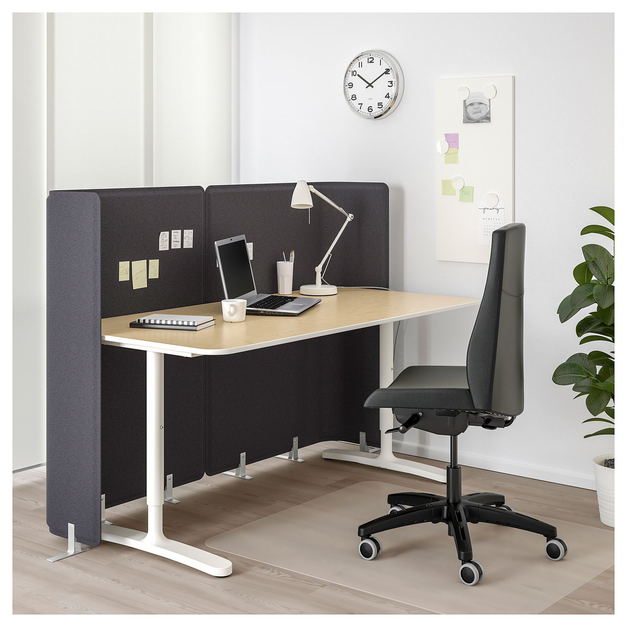 Furniture and Home Furnishings | Ikea bekant, Black desk ...