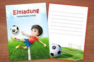 Die Einladungskarten Fußball Muss Man Im Voraus Vorbereiten. Auf Dieser  Seite Finden Sie Kostenlose Vorlagen Von Geburtstagseinladungen,  Geburtstagskarten ...