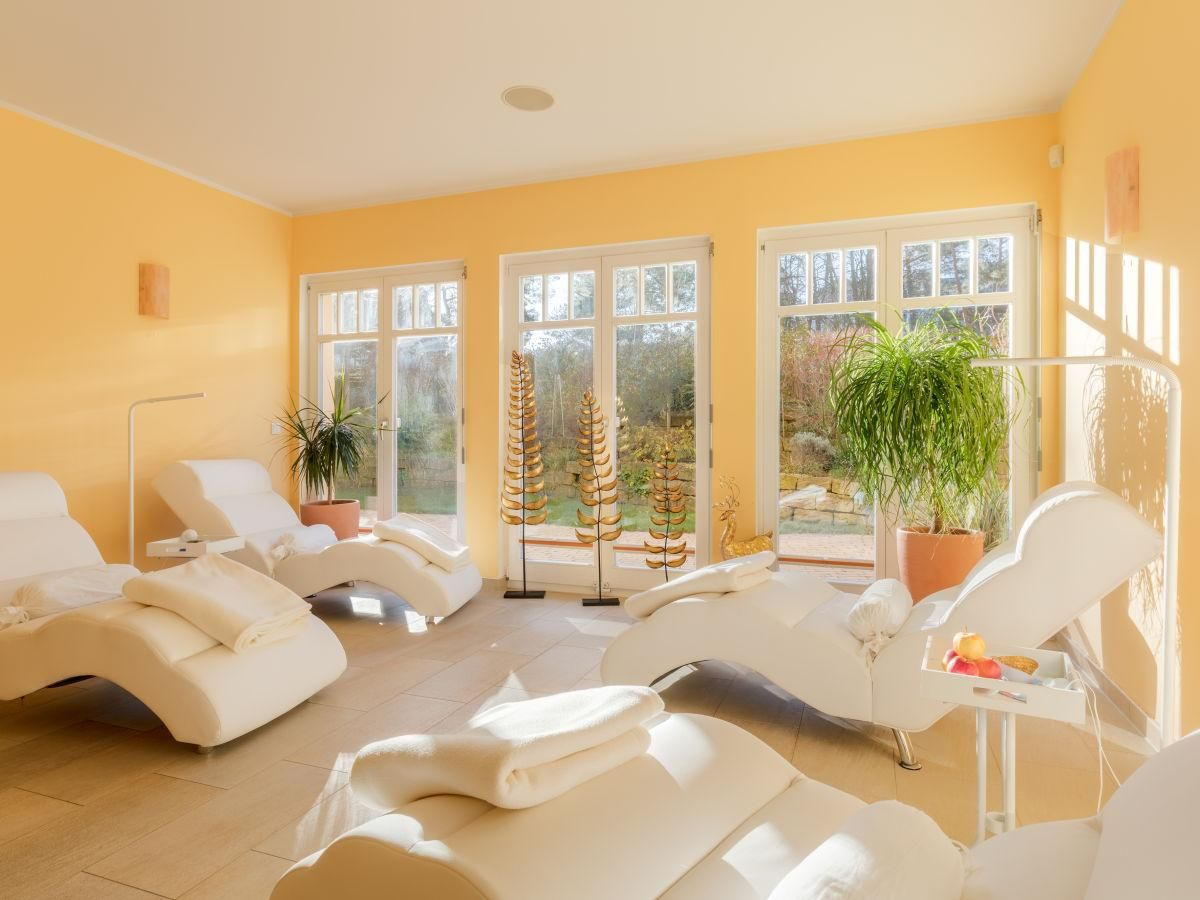 Relaxation room to the south terrace Villa Lebensart in
