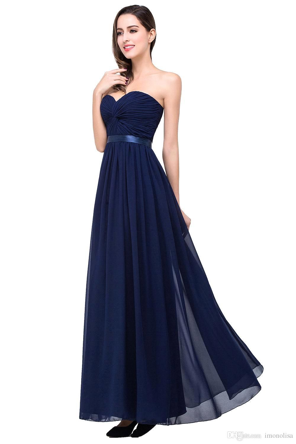 Real photo sexy sweetheart chiffon long navy blue bridesmaid real photo sexy sweetheart chiffon long navy blue bridesmaid dresses 2016 prom dress for weddings under ombrellifo Image collections