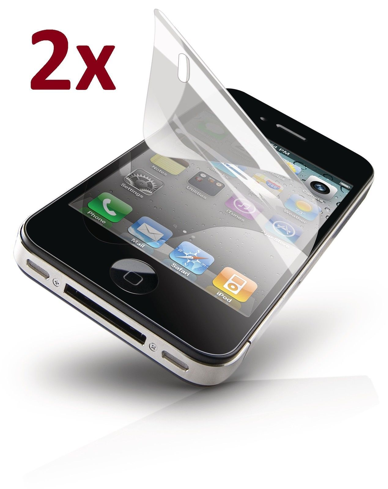 hot sale online 9e3d9 4ccce $1.99 AUD - 2X Superior Lcd Screen Protector For Apple Iphone 4S 4 ...