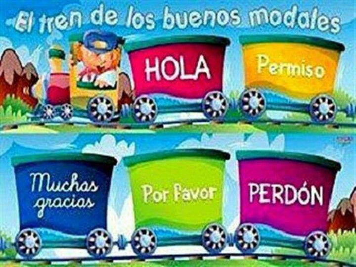 Bonito cartel para trabajar con los niños buenos modales. | BUENOS ...