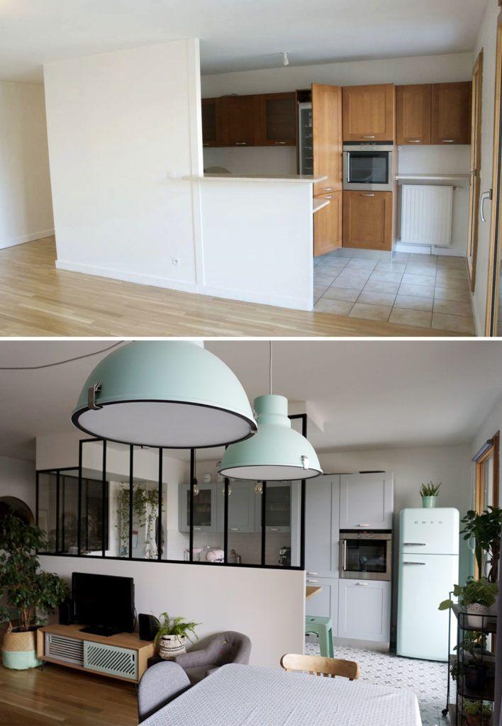 Relooking cuisine avec verrière - Décoration & rénovation - Blog déco #homestagingavantapres