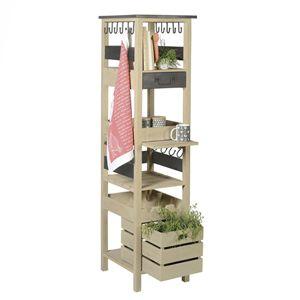 colonne de rangement cuisine bois et m tal jardin d 39 ulysse design pinterest colonne de. Black Bedroom Furniture Sets. Home Design Ideas
