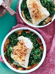 Fisch Gratin Mit Spinat Rezept Fischgerichte Pinterest Diat