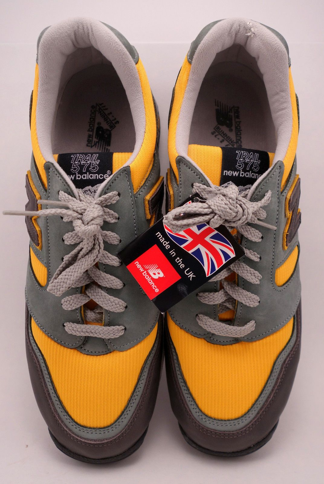 online store 17f50 d7d81 New Balance 575, M575GY, Gray Yellow, Size 11.5, Trails! New In Box MADE IN  U.K.
