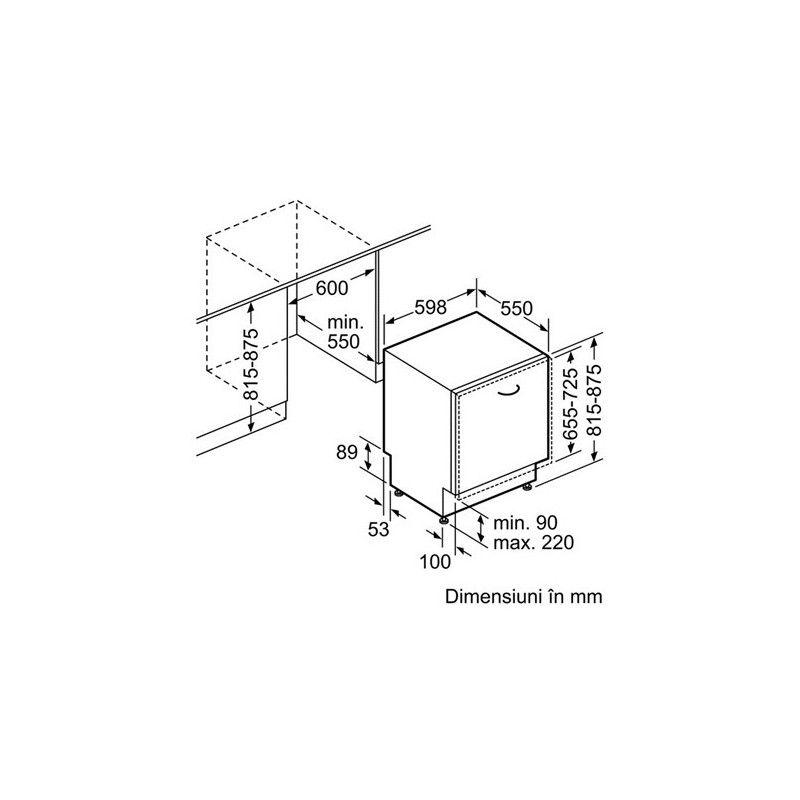 Masina de spalat vase incorporabila Bosch SMV53L60EU, 12 Seturi, 5 Programe, Clasa A++, 60 cm - Iak