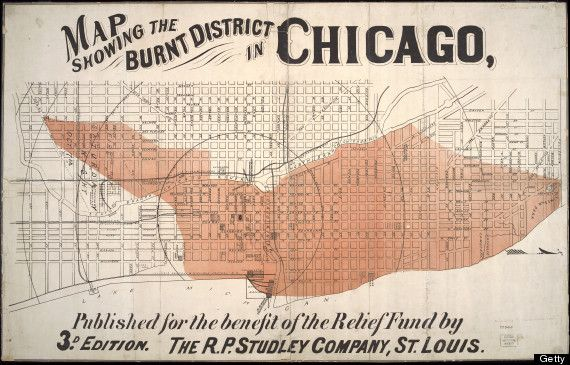 Map Shows What The City Looked Like Before The Great Chicago Fire