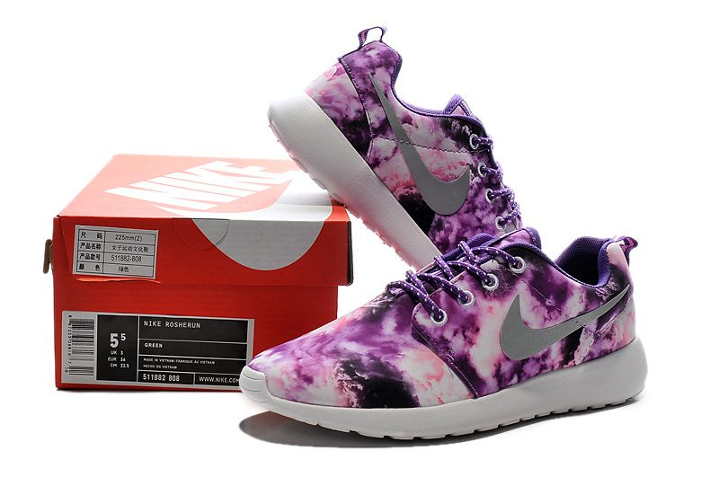 7551c33500c4 511882-808 Nike Womens Roshe Run Cloud Club Purple Shell Pink White ...