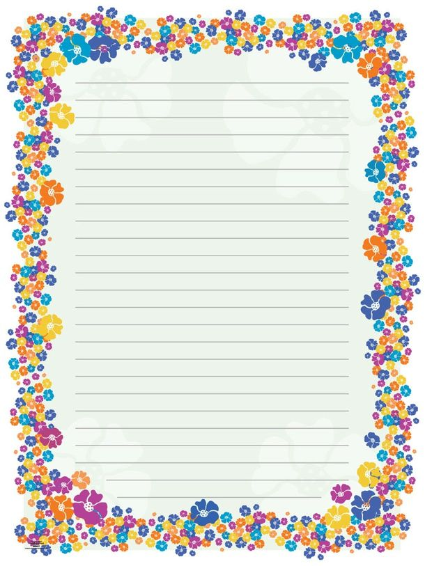 Blank Paper Flowers Stationeryborders For Adults