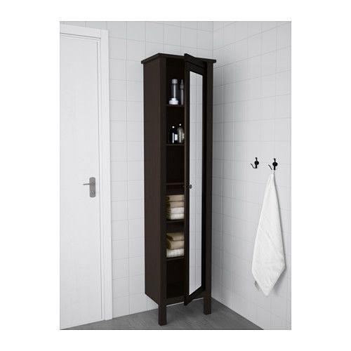 armoire avec porte miroir hemnes blanc salle de bain. Black Bedroom Furniture Sets. Home Design Ideas