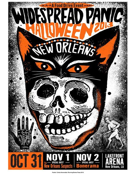 Widespread Panic Poster Halloween 2020 Widespread Panic Halloween 2013 New Orleans LAST FEW | Etsy in