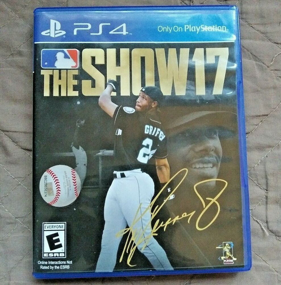 Ps4 Mlb The Show17 Playstation 4 Ken Griffey Jr Baseball Video Game Sony Rated E Ken Griffey Jr Griffey Jr Baseball Videos