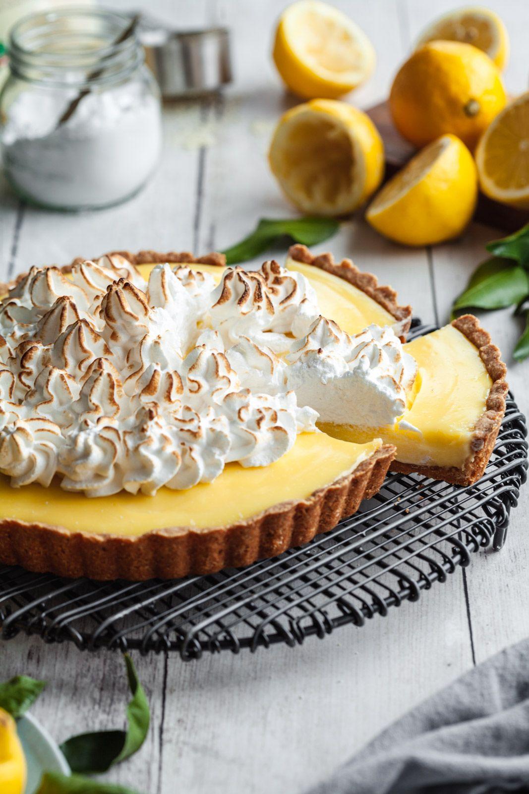 Gluten Free Lemon Custard Cream Tart With Swiss Meringue Recipe