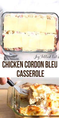 Chicken Cordon Bleu Casserole - Low Carb, Keto, TH