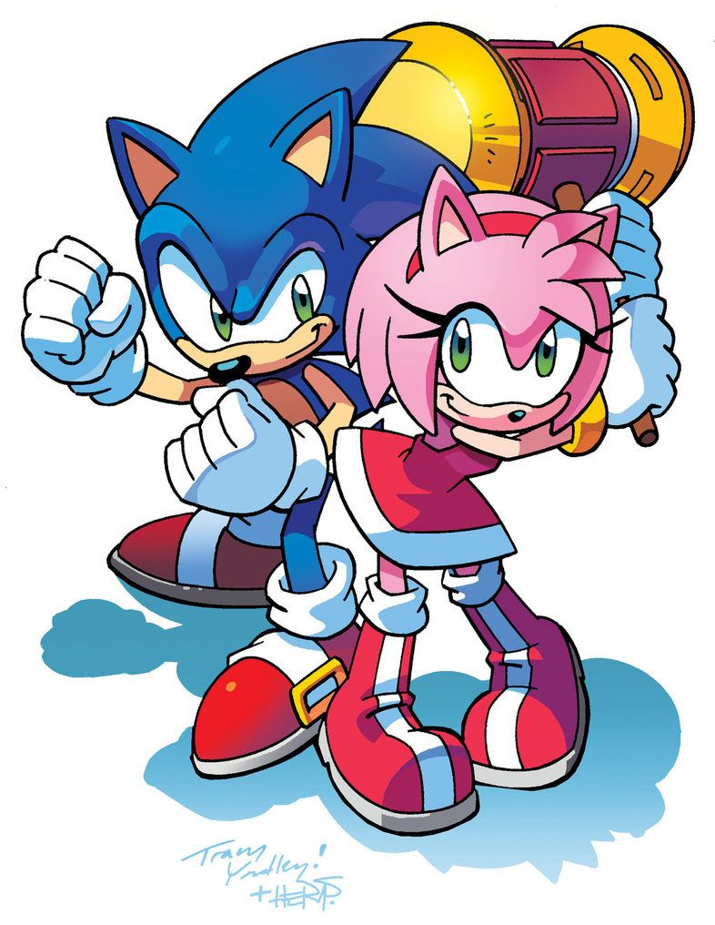 Sonic and Amy | Sonic the hedgehog and gang | Pinterest | Universo