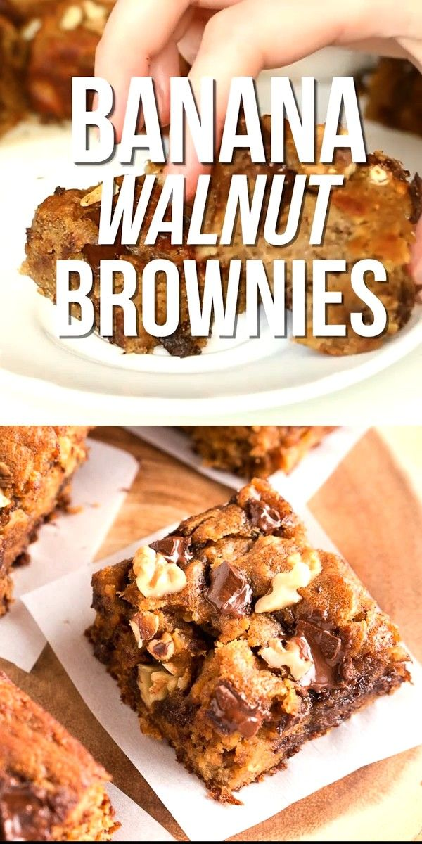 Walnut Brownies These Banana Walnut Brownies are moist, fudgy, and delicious. They are very easy to