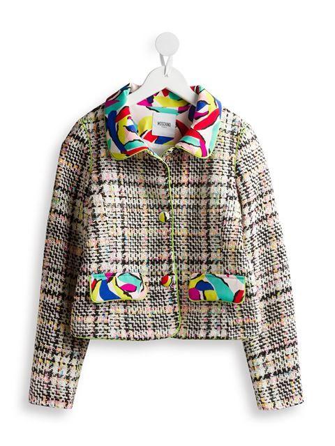 9fa2f7f49 Moschino Kids woven bouclé jacket in Carofiglio Junior farfetch.com ...