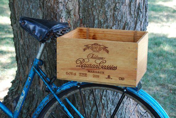 Wine Crate Bike Box Stylish Rear Mount Wood Box With Optional