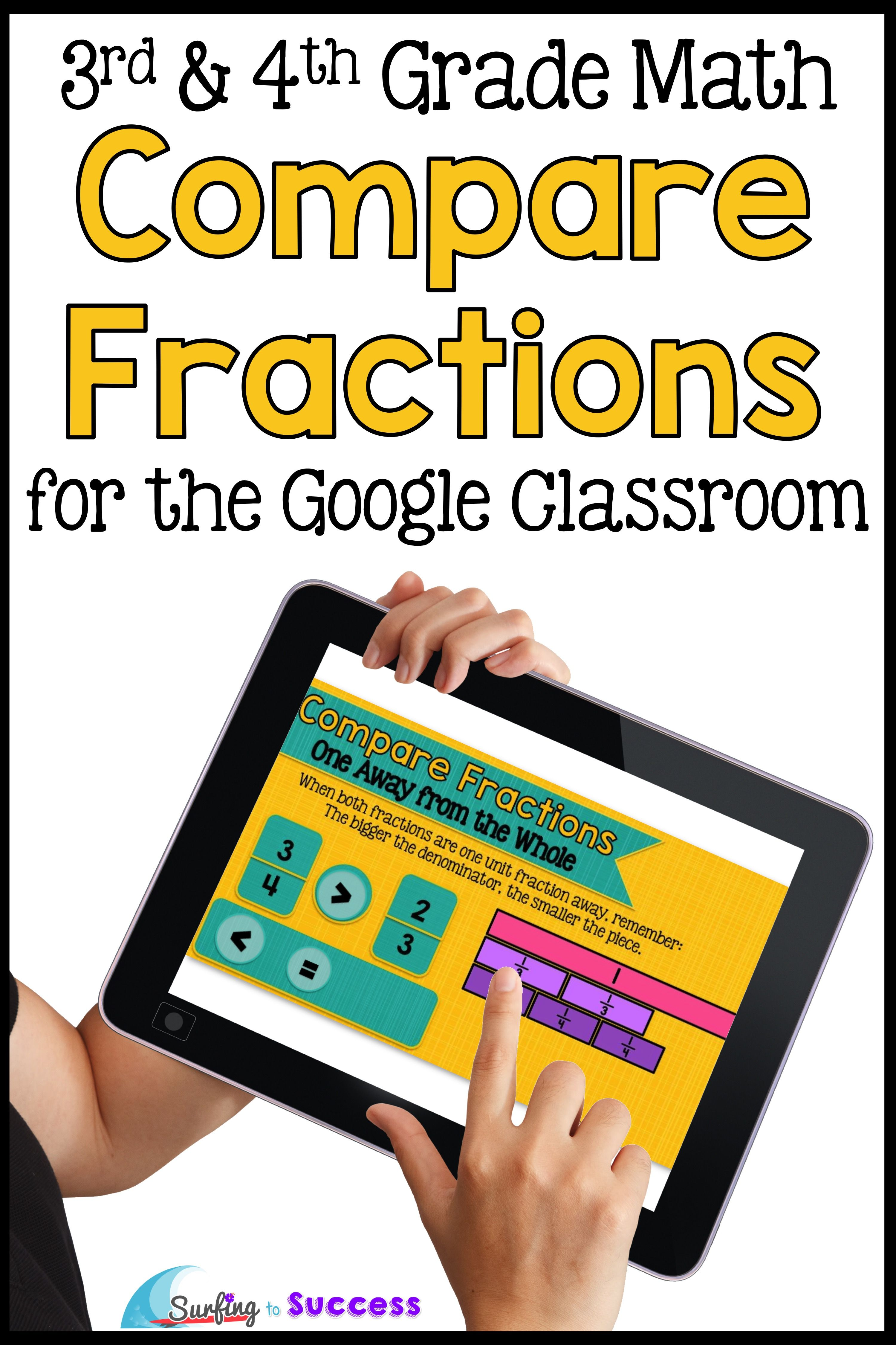 Compare Fractions Interactive Math For The