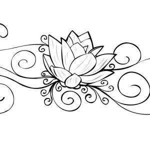 Lotus Flower Painting Coloring Page Kids Play Color disegni