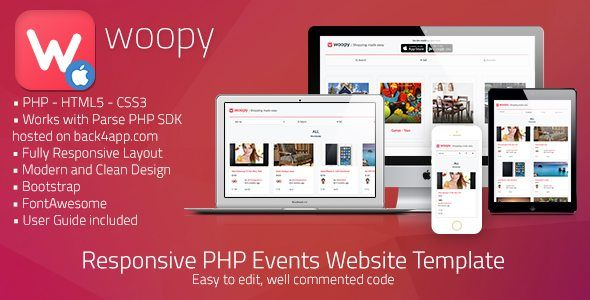 Php Website Templates Download Woopy  Listings  Chat App Php Web Template Nulled