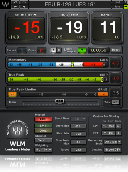 WLM Plus Loudness Meter in 2019 | Recording Software | Waves