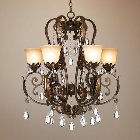Valentina Iron Leaf Collection Six Light Chandelier Chandelier