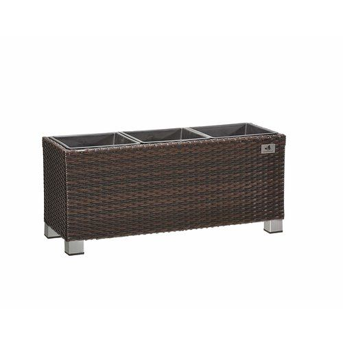 Rattan Planter Box Gartenfreude Gmbh Colour Brown Wood Barrel Planters Plastic Barrel Planter Wooden Garden Planters