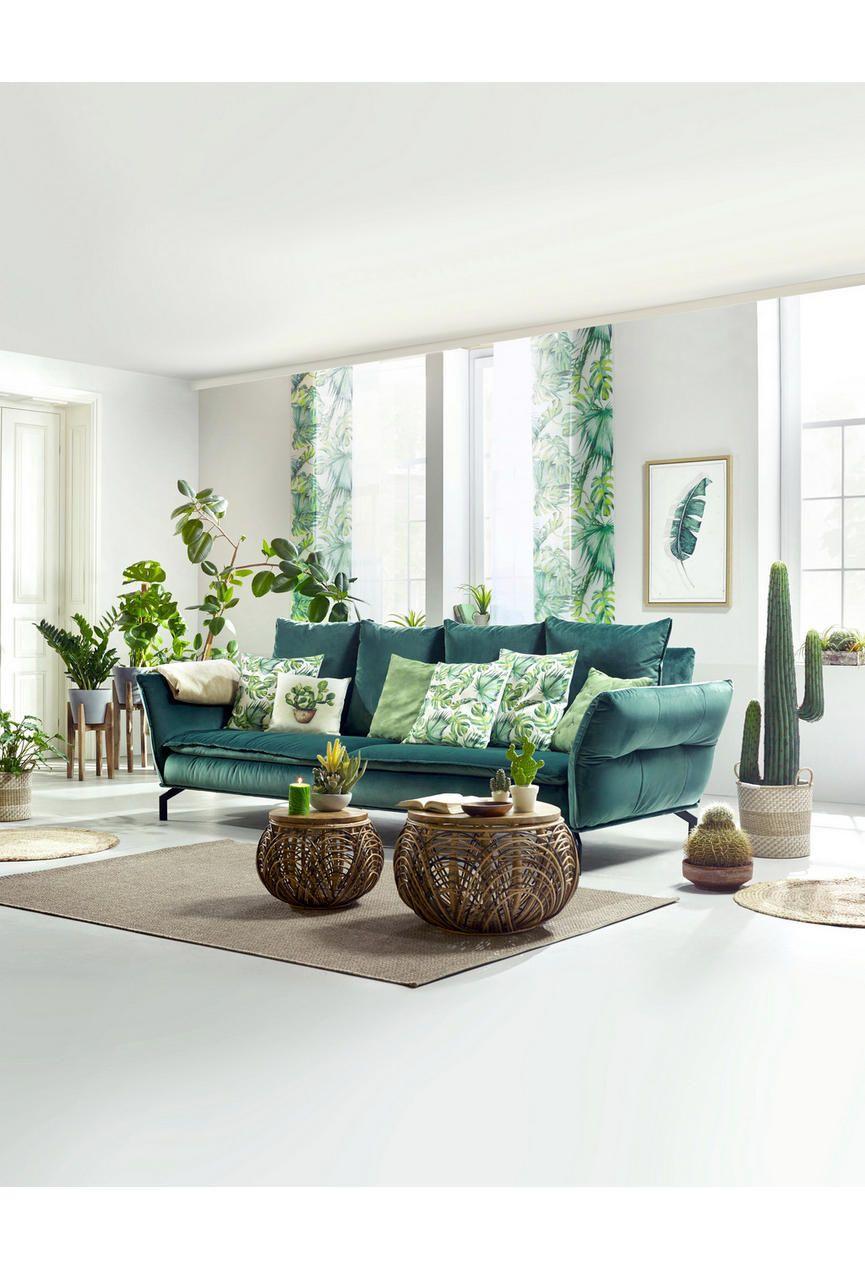 megasofa in textil grün   wohnzimmer design, wohnzimmer