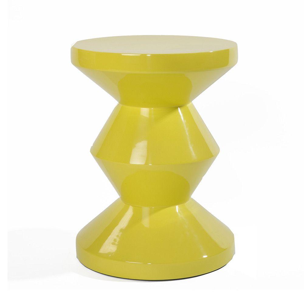 Discover the Pols Potten Zig Zag Stool - Yellow at Amara | Amara ...