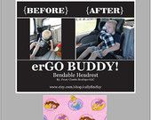 erGO BUDDY Bendable baby / toddler headrest carseat pillow and cover in Disney Princesses