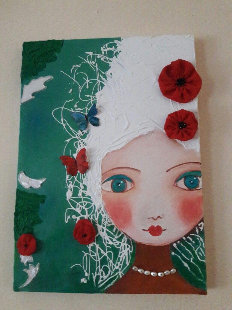 Kendi yaptığım dekoratif tablom. (Dengan gambar)   Mengagumkan, Kendi