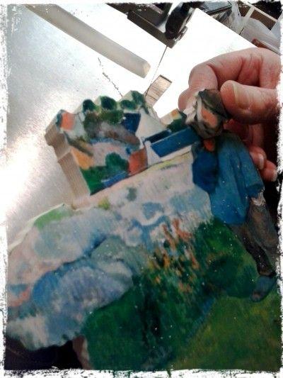Les contours du personnage se fondent presque dans le décor, comme si le porcher n'était qu'un détail du paysage. Retrouvez ce tableau dans nos boutiques et sur notre site : http://www.puzzles-et-jeux.com/fr/product/puzzle+adulte/500+pieces/a462-500,le-porcher.html