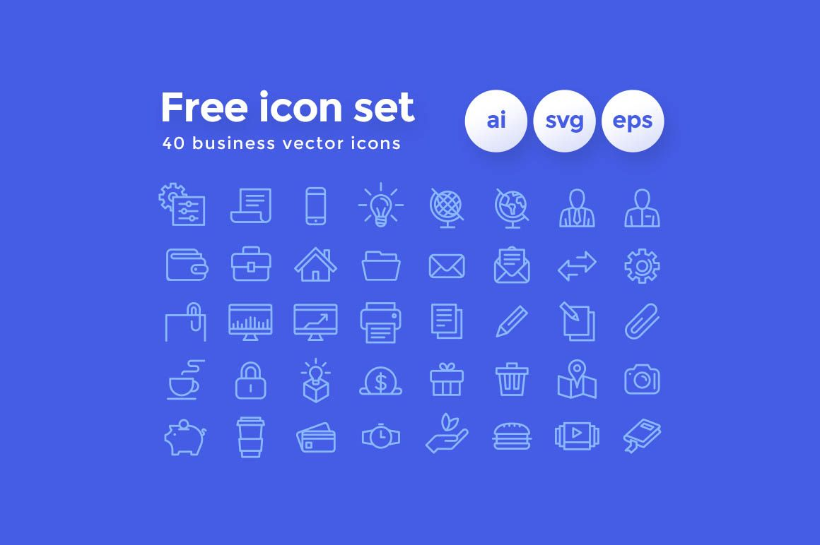 40 Free Business Vector Icons