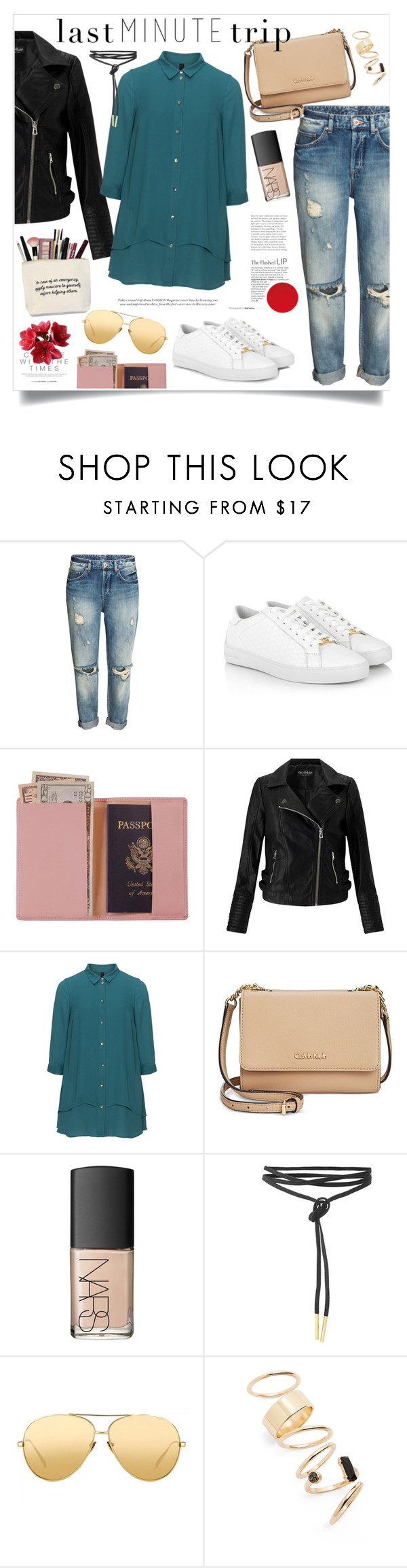 """""""Let's go somewhere!"""" by gold-candle23 ❤ liked on Polyvore featuring Michael Kors, Royce Leather, Miss Selfridge, Manon Baptiste, Calvin Klein, NARS Cosmetics, Linda Farrow, BP. and lastminutetrip"""